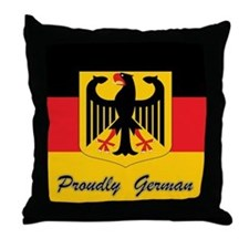 Proudly German Throw Pillow