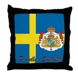 Proudly Swedish Throw Pillow