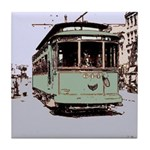 Old Streetcar 1930's Tile Coaster