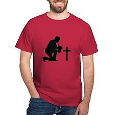 COWBOY KNEELING AT CROSS T-Shirt