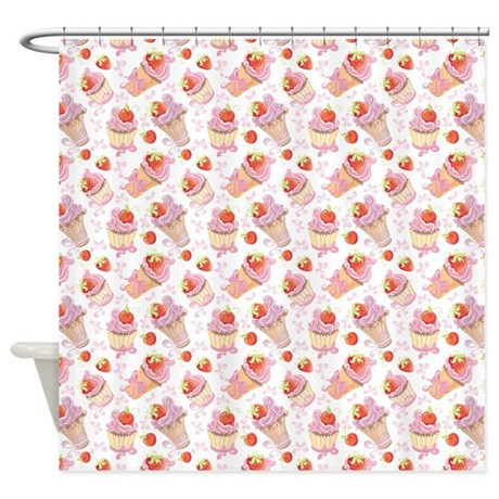 Strawberry Sweets Shower Curtain