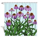 Purple Coneflowers Shower Curtain
