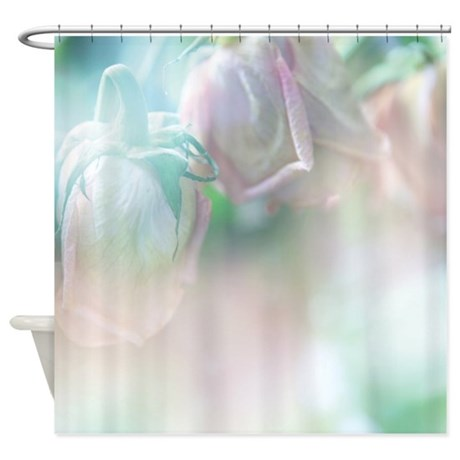 Roses In The Mist Shower Curtain
