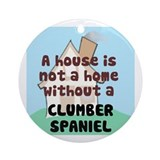 Clumber Home Ornament (Round)