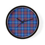 Tartan - Edinburgh dist. Wall Clock