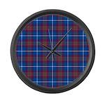 Tartan - Edinburgh dist. Large Wall Clock