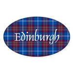 Tartan - Edinburgh dist. Sticker (Oval 10 pk)