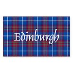 Tartan - Edinburgh dist. Sticker (Rectangle 10 pk)