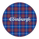 Tartan - Edinburgh dist. Round Car Magnet