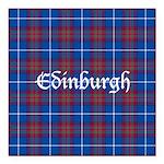 Tartan - Edinburgh dist. Square Car Magnet 3