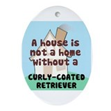Curly-Coat Home Oval Ornament