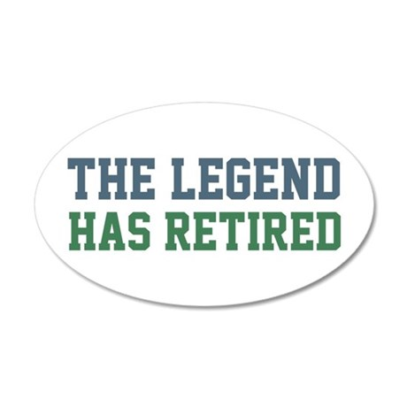 The Legend Has Retired 35x21 Oval Wall Decal