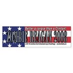 Zombie Reagan 2008 Bumper Sticker