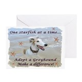 Lorrie's Greyhound Starfish Greeting Cards (6)