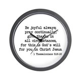 1 Thessalonians 5:16-18 Wall Clock