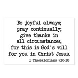 1 Thessalonians 5:16-18 Postcards (Package of 8)