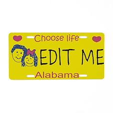 Alabama Choose Life Aluminum License Plate
