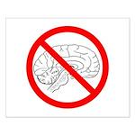 The No Brain Small Poster