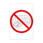 The No Brain Mini Poster Print