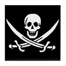 Pirate Flag of Calico Jack Tile Coaster