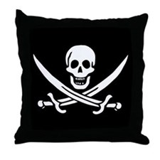 Pirate Flag of Calico Jack Throw Pillow