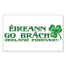 Éireann go Brách Rectangle Decal