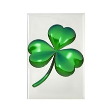 3D Shamrock Rectangle Magnet