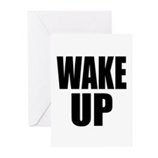 WAKE UP Message Greeting Cards (Pk of 10)