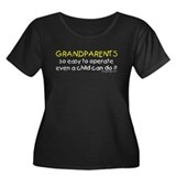 Grandparents Women's Plus Size Scoop Neck Dark T-S