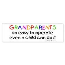 Grandparents Bumper Car Sticker