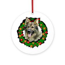 Grizz Wreath Ornament (Round)