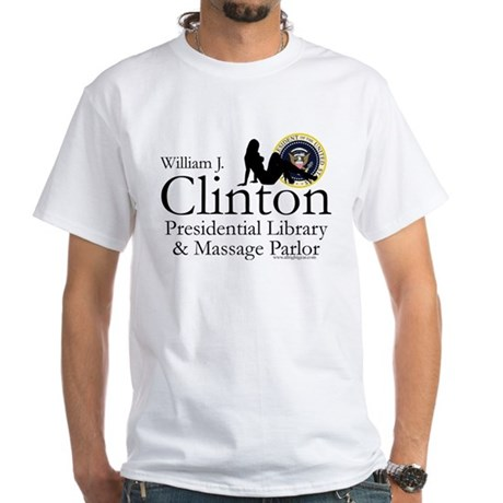 Clinton Library & Massage White T-Shirt