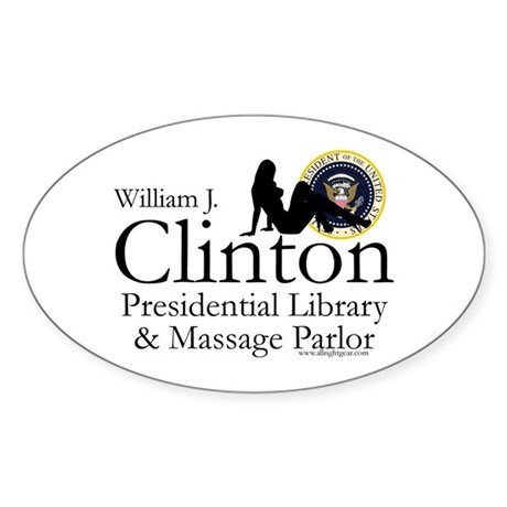 Clinton Library & Massage Oval Sticker