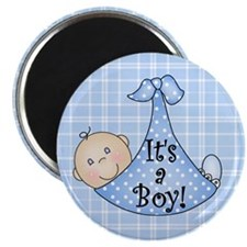 "It's a Boy (white) 2.25"" Magnet (10 pack)"