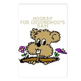 HOORAY FOR GOUNDHOG'S DAY! Postcards (Package of 8