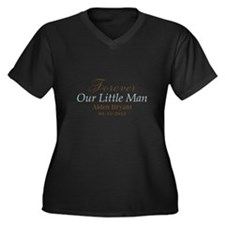 Blue Brown Personalizable Little Man Plus Size T-S