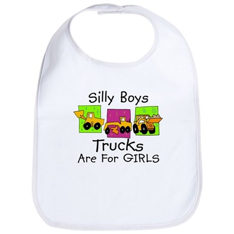 Trucks are for Girls Baby/Toddler Bib