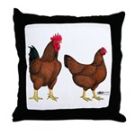 Red Broiler Pair Throw Pillow