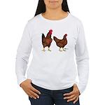 Red Broiler Pair Women's Long Sleeve T-Shirt