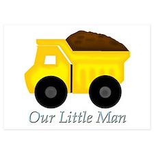 Our Little Man Dump Truck Invitations