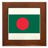 Bangladesh Flag Framed Tile