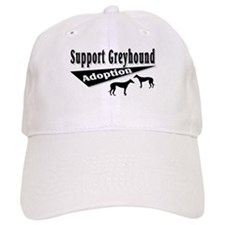 Support Greyhound Adoption Baseball Cap