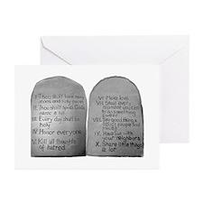 Mo's 10 Commandments Greeting Cards (Pk of 10)