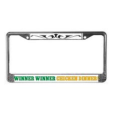 Winner Winner Chicken Dinner License Plate Frame