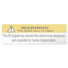 (WARNING) V8 engine Bumper Bumper Sticker