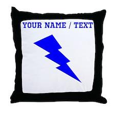 Custom Blue Lightning Throw Pillow