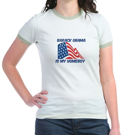 BARACK OBAMA is my homeboy Jr. Ringer T-Shirt