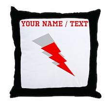 Custom Red Shadow Lightning Throw Pillow