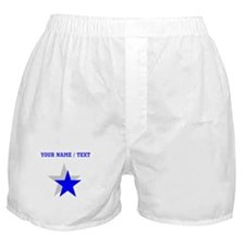 Custom Blue Shadow Star Boxer Shorts