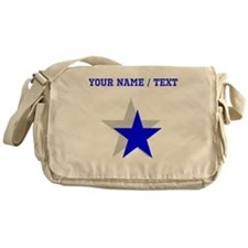 Custom Blue Shadow Star Messenger Bag